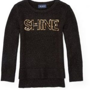 CHILDREN'S PLACE 7/8 LIKE NEW SHINE SWEATER